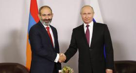 Владимир Путин и Никола Пашинян обсудили ситуацию на границе Армении и Азербайджана.